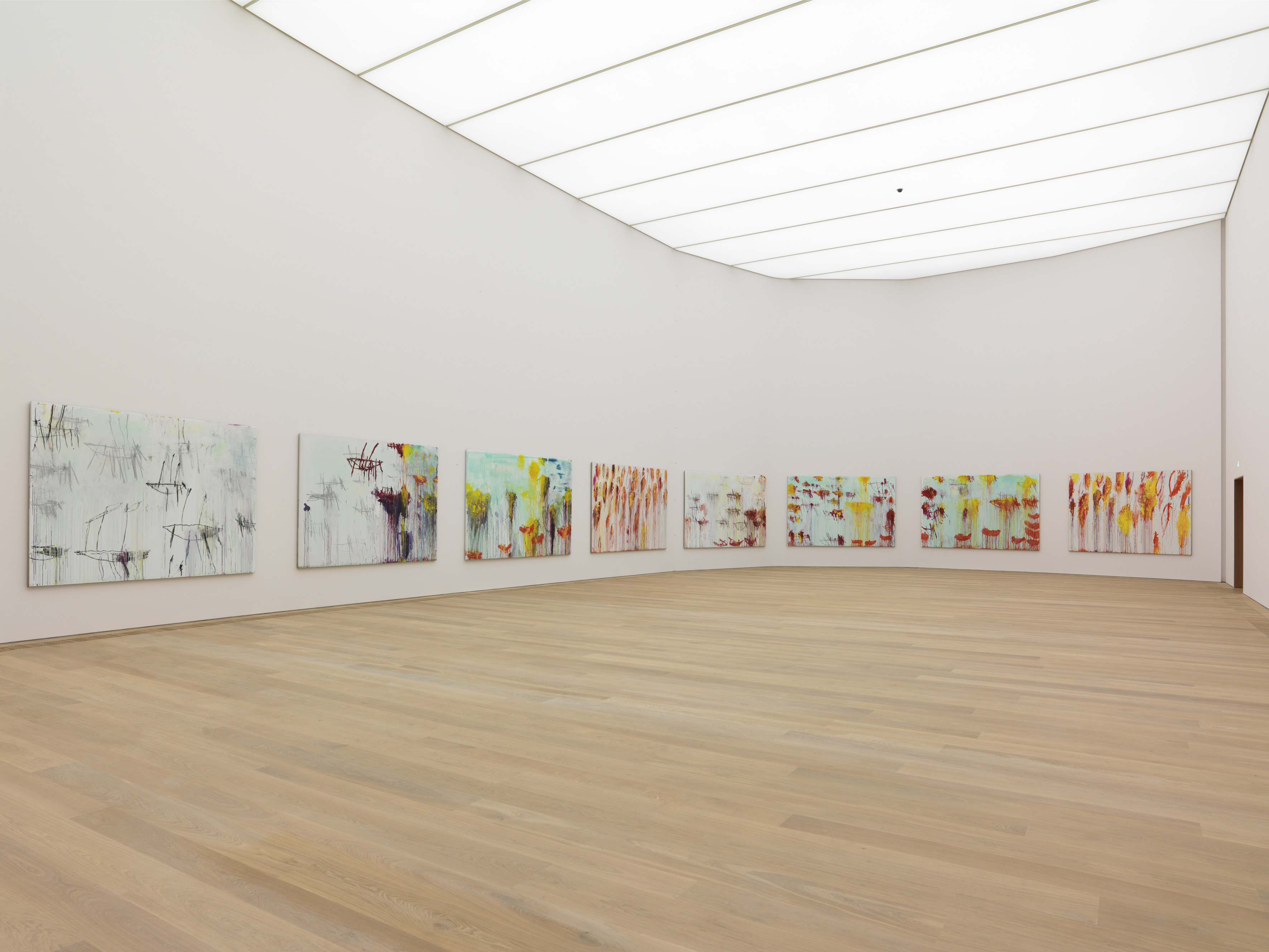 Interior view of the Museum Brandhorst with Cy Twombly's Lepanto cycle