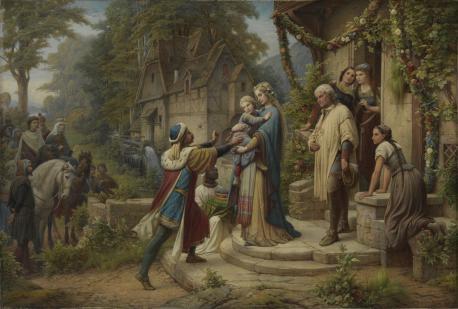 Leopold Bode, Pippin und Bertha (Die Sage von der Geburt und Kindheit Kaiser Karls des Großen), 1876